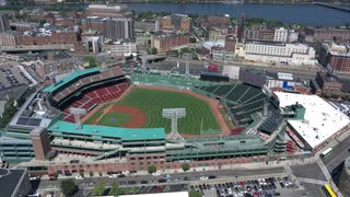Fenway Park Stadium From The Sky, Boston, Massachusetts