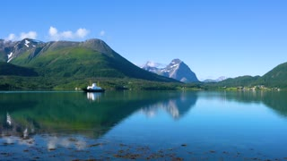 Ferries' cross. Beautiful Nature Norway.