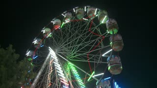 Ferris Wheel at Camel Fair in Pune India