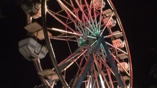 Ferris Wheel Night Timelapse