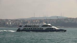 Ferry Traversing Istanbul Waterways