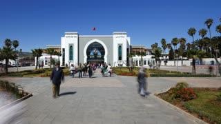 Fez Railway Station, Morocco - Time lapse