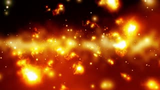 Fiery Particles Drifting Past