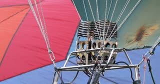 Fire blasts into a hot air balloon