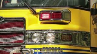fire truck flashing front light