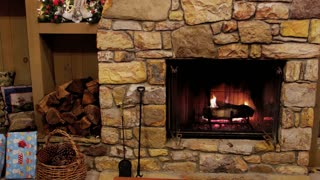 Fireplace and Christmas Presents