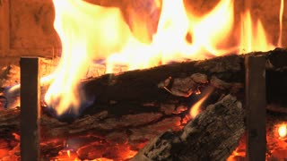 Fireplace Fire Zoom In