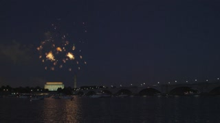 Fireworks By George Washington Memorial Bridge