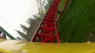 First Person Perspective on Roller Coaster