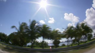Fish Eye Lens View of Oceanside Miami Freeway