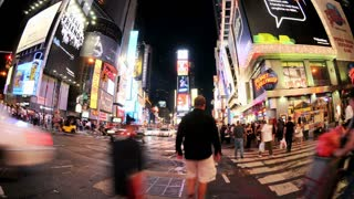 Fish Eye Times Square Timelapse