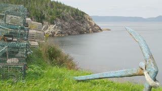 Fish Traps on Nova Scotia Shore
