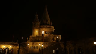 Fishermans Bastion Tower at Night