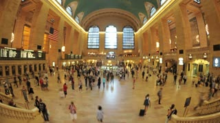 Fisheye Grand Central Station Timelapse