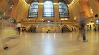 Fisheye Grand Central Timelapse
