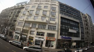 Fisheye View Of Romanian Streets