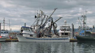 Fishing Boat At Harbor