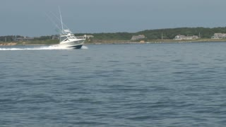 Fishing Boat Speeding Through Bay Waters 2
