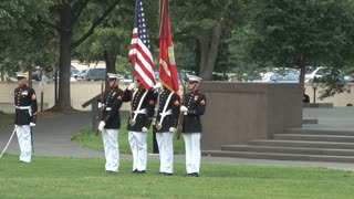 Flag Guard Standing During Ceremony 2