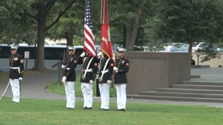 Flag Guard Standing During Ceremony