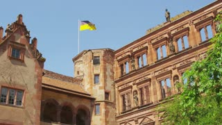 Flag on Heidelberg Castle Tower