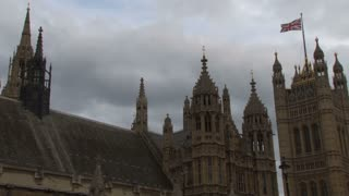 Flag On Palace Of Westminster