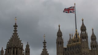 Flag On Parliament Building