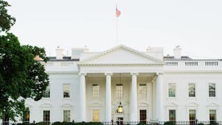 Flag Waving Over White House