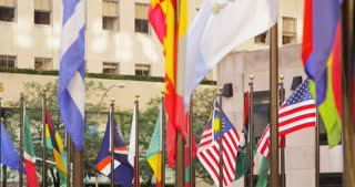 Flags at Rockefeller Center