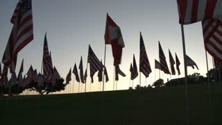 Flags Sunset Timelapse