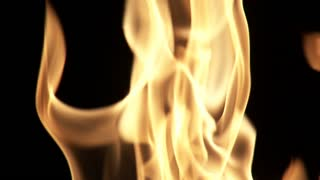 Flames Flickering with Black Background