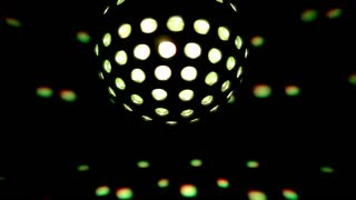 Flashes Of Light Off Disco Ball