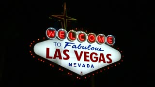 Flashing Vegas Welcome Sign