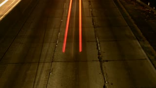 Flashing Vehicle Light Trails