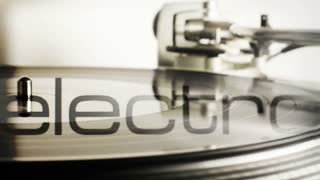 Flashing Words Over Turntable