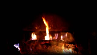 Flickering Fire Logs