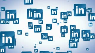 Floating LinkedIN Icons