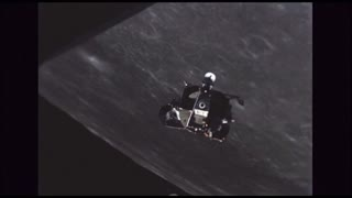 Floating Lunar Module Outside Command Module