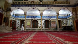 Floor Level Shot of Mosque Interior
