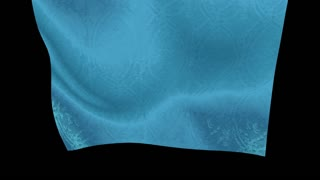 Flutter light blue Curtain