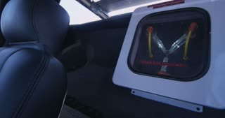 Flux Capacitor Flashing in the Interior of Delorean Handheld Shot 4K
