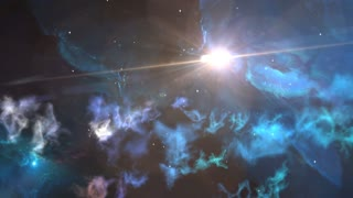 fly through outer space nebula and stars animated background