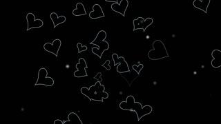 Flying forms of black loves
