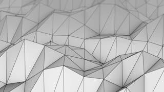 Flying over polygonal relief seamless loop 3D render 4k UHD (3840x2160)
