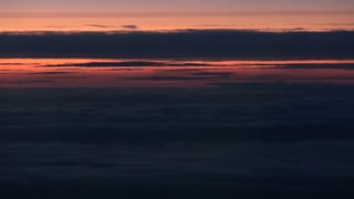 Flying Over Sunset Clouds 2