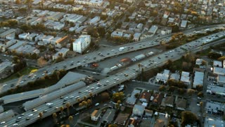 Flying Overhead LA Roadway