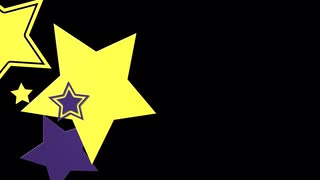 Flying Star Side Wipe Purple and Yellow