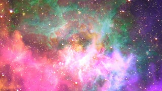 Flying through nebula, Abstract Loopable Background