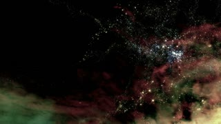 Flying through star fields and galaxies in outer space (Loop).