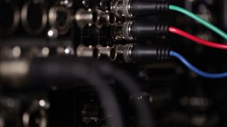 Focus pulling from rgb video cables to audio xlr cables on the pro recorder.